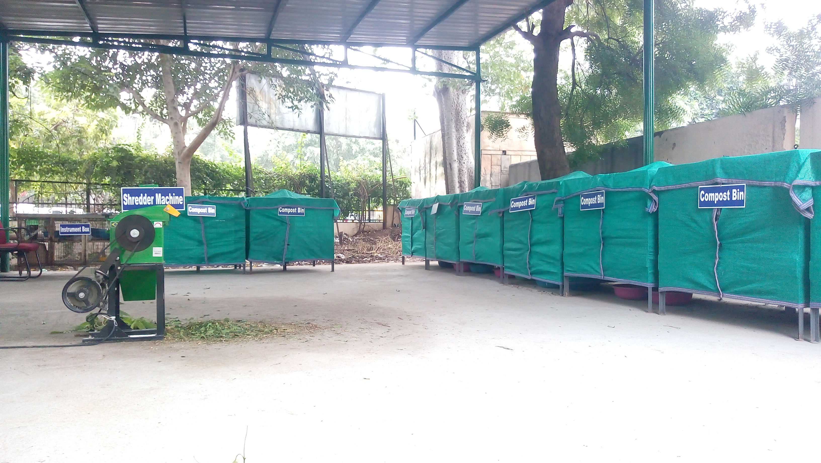 Vendor Balancing Bit's Natural Composting Set-Up at Haryana Institute of Public Administration